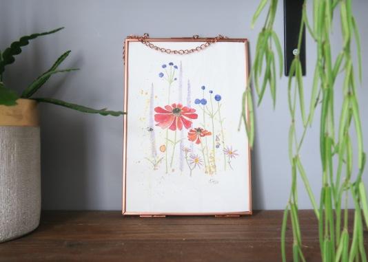 red flowers framed 2
